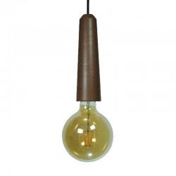 Подвесной бетонный патрон для лампы (КРУПНЫЙ - КОРИЧНЕВЫЙ) 01103BR