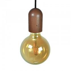 Подвесной бетонный патрон для лампы (МАЛЫЙ - БОЧЕНОК КОРИЧНЕВЫЙ) 01104BR