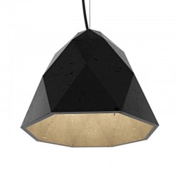 Подвесной бетонный светильник Бриолет (чёрный) 01109B