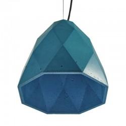 Подвесной бетонный светильник Бриолет (синий) 01109BL