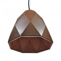 Подвесной бетонный светильник Бриолет (коричневый) 01109BR
