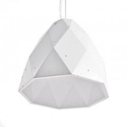 Подвесной бетонный светильник Бриолет (белый) 01109W