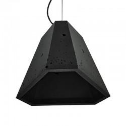 Подвесной бетонный светильник Трего (чёрный) 01110B