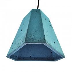 Подвесной бетонный светильник Трего (синий) 01110BL