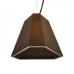 Подвесной бетонный светильник Трего (коричневый) 01110BR