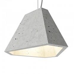 Подвесной бетонный светильник Трего (серый) 01110G