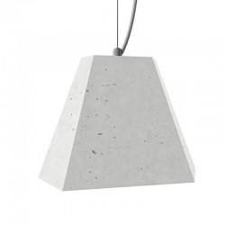 Подвесной бетонный светильник Трего (белый) 01110W
