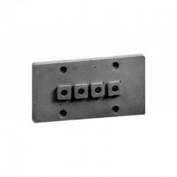 Накладка для наружной проводки (4 отв. серая) 03104G