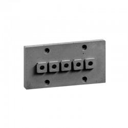 Накладка для наружной проводки (5 отв. серая) 03105G