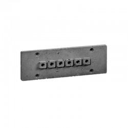 Накладка для наружной проводки (6 отв. серая) 03106G
