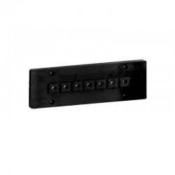 Накладка для наружной проводки (7 отв. черная) 03107B