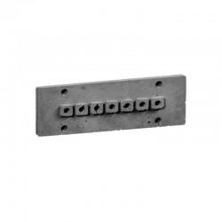 Накладка для наружной проводки (7 отв. серая) 03107G