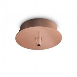 Крепление Ideal Lux 249278 Rosone Metallo 1 Luce Rame Brunito