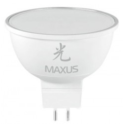 Лампа Maxus  LED-401 MR16 5W 3000K 220V GU5.3 AP